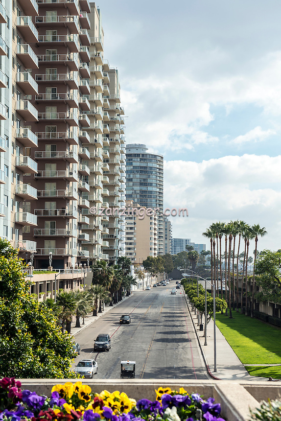 Long Beach, CA, City, Cityscape, Downtown, Architectural, Office Buildings,  Southern California, USA,
