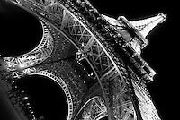 The Eiffel Tower in Paris, France for a travel story on the city of lights.