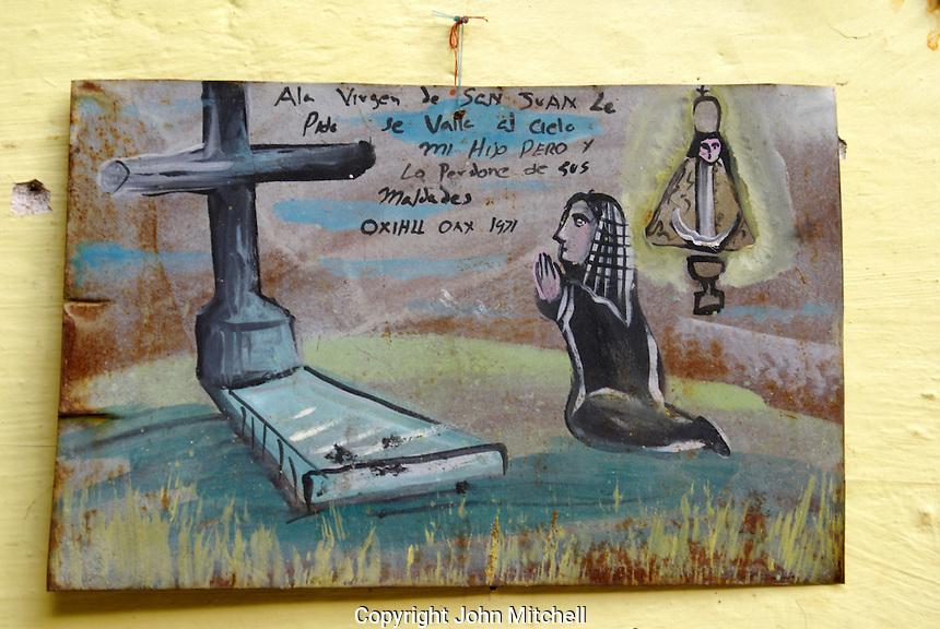 Mexican retablo or ex-voto, San Miguel de Allende, Mexico