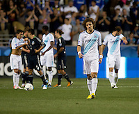 David Luiz (4) of Chelsea walks off the field during the game at PPL Park in Chester, PA.  The MLS All-Stars defeated Chelsea, 3-2.