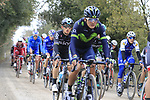 The peloton including Michal Kwiatkowski (POL) Team Sky on gravel sector 3 Radi during the 2017 Strade Bianche running 175km from Siena to Siena, Tuscany, Italy 4th March 2017.<br /> Picture: Eoin Clarke | Newsfile<br /> <br /> <br /> All photos usage must carry mandatory copyright credit (&copy; Newsfile | Eoin Clarke)