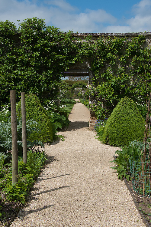 The walled garden, Rousham House and Garden.