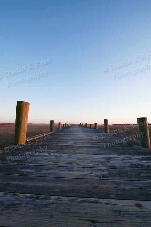 Wooden Dock vanishing Point Charleston South Carolina