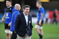 Bath Rugby Head Coach Mike Ford looks on during the pre-match warm-up. European Rugby Champions Cup match, between Bath Rugby and RC Toulon on January 23, 2016 at the Recreation Ground in Bath, England. Photo by: Patrick Khachfe / Onside Images