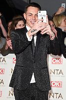 Bobby Norris at the National TV Awards 2017 held at the O2 Arena, Greenwich, London. <br /> 25th January  2017<br /> Picture: Steve Vas/Featureflash/SilverHub 0208 004 5359 sales@silverhubmedia.com