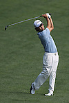 May 8,2011 - Kevin Na hits his second shot on ten.  Lucas Glover wins the tournament in sudden death over Jonathan Byrd at Quail Hollow Country Club,Charlotte,NC.