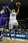 UK guard Bria Goss attempts a shot during the first half of the women's basketball game vs. LSU Memorial Coliseum , in Lexington, Ky., on Sunday, January 27, 2013. Photo by Genevieve Adams  | Staff.