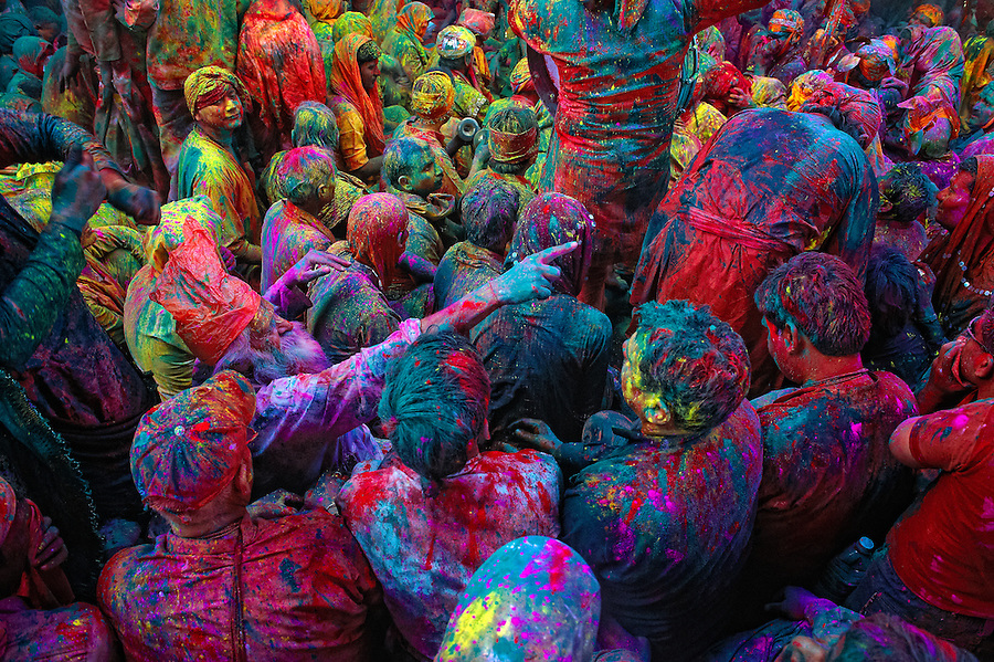 The festival of Holi is a religious festival. People sing bhajans of Radha and Lord Krishna on this day and it marks the beginning of Spring Season in india.