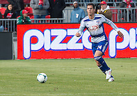 06 April 2013: FC Dallas defender Matt Hedges #24 in action during an MLS game between FC Dallas and Toronto FC at BMO Field in Toronto, Ontario Canada..The game ended in a 2-2 draw..