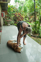 A friendly passerby taking a short nap at our hotel in Sanur, Bali