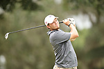 HOWEY IN THE HILLS, FL - MAY 19: Ty Palmer of Guilford College tees off during the Division III Men's Golf Championship held at the Mission Inn Resort and Club on May 19, 2017 in Howey In The Hills, Florida. (Photo by Cy Cyr/NCAA Photos via Getty Images)