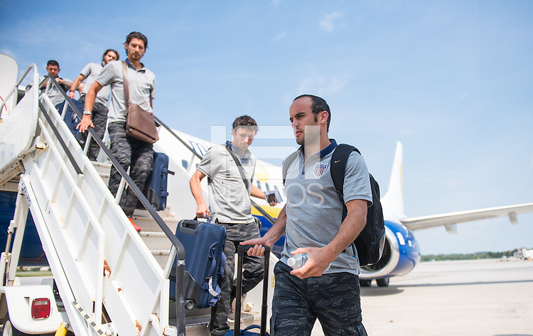 Columbus, Ohio - September 7, 2013: The USMNT arrives in Columbus for their WC Qualifying match against Mexico.