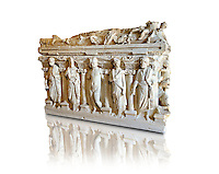 Sidamara Sarcophagus,  a 2nd century marble Roman sarcophagus from  Turkey. Istanbul Archaeology Museum.