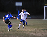 Oxford's Lucian Duchaine (11) vs. Saltillo in boys high school soccer action at Oxford High School in Oxford, Miss. on Thursday, January 27, 2011.