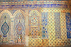 Decorative tiled panels of the Harem in the Topkapi Palace, Istanbul, Turkey