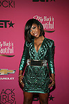 """Singer Sevyn Streeter  in a Balmain mini and Christian Louboutin Pumps Attends """"BLACK GIRLS ROCK!"""" Honoring legendary singer Patti Labelle (Living Legend Award), hip-hop pioneer Queen Latifah (Rock Star Award), esteemed writer and producer Mara Brock Akil (Shot Caller Award), tennis icon and entrepreneur Venus Williams (Star Power Award celebrated by Chevy), community organizer Ameena Matthews (Community Activist Award), ground-breaking ballet dancer Misty Copeland (Young, Gifted & Black Award), and children's rights activist Marian Wright Edelman (Social Humanitarian Award) Hosted By Tracee Ellis Ross and Regina King Held at NJ PAC, NJ"""