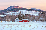 Northeast Kingdom farm country in Peacham, Vermont, USA
