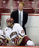 Brian Gibbons (BC - 17), Greg Brown (BC - Assistant Coach) - The Boston College Eagles defeated the St. Francis Xavier University X-Men 4-1 in their exhibition match on Sunday, October 4, 2009, at Conte Forum in Chestnut Hill, Massachusetts.