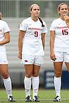07 September 2014: Arkansas' Blake Pruitt. The University of North Carolina Tar Heels played the University of Arkansas Razorbacks at Koskinen Stadium in Durham, North Carolina in a 2014 NCAA Division I Women's Soccer match. UNC won the game 2-1.