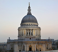 The 111 metre high dome of St Paul's Cathedral, London, UK, 1675-1710, by architect Sir Christopher Wren. Picture by Manuel Cohen
