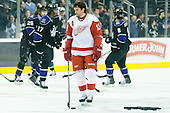 Pavel Datsyuk (Detroit Red Wings, #13) at warm up during ice-hockey match between Los Angeles Kings and Detroit Red Wings in NHL league, February 28, 2011 at Staples Center, Los Angeles, USA. (Photo By Matic Klansek Velej / Sportida.com)