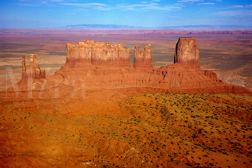 Stone monoliths in Monument Valley Navajo Tribal Park