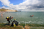 Scuba Diving at Freshwater Bay on the isle of wight