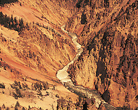 Wyoming. Yellowstone River and Yellowstone Grand Canyon in Yellowstone National Park, established 1872