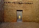 Ancient doorways through Pueblo Bonito ruins, Chaco Culture National Historical Park, New Mexico
