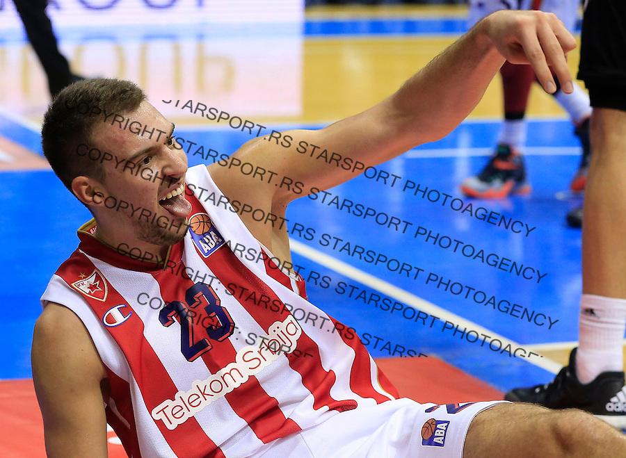 Kosarka ABA League season 2015-2016<br /> Crvena Zvezda v Partizan<br /> Marko Guduric reacts<br /> Beograd, 03.11.2015.<br /> foto: Srdjan Stevanovic/Starsportphoto&copy;