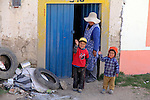 Sout America, Peru, Ayaviri. Local villagers of the high Andes, in Ayaviri.