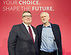Labour Leadership <br /> Conference <br /> at The QE Conference Centre, Westminster, London, Great Britain <br /> 12th September 2015 <br /> <br /> Tom Watson <br /> deputy leader <br /> <br /> Jeremy Corbyn <br /> Leader <br /> <br /> <br /> <br /> Photograph by Elliott Franks <br /> Image licensed to Elliott Franks Photography Services