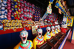 The Clowns in Sydney's Luna Park.  Sydney, Australia. Wednesday 6th June 2012. (Photo Steve Christo)