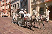 Retro coach in Krakow