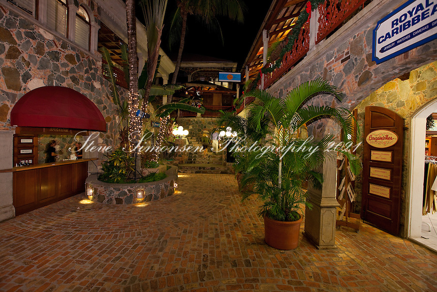 Evening in the Courtyard.Mongoos Junction.Cruz Bay, St John.U.S. Virgin Islands