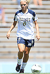 28 August 2011: Notre Dame's Melissa Henderson. The Duke University Blue Devils defeated the Fighting Irish of Notre Dame 3-1 at Fetzer Field in Chapel Hill, North Carolina in an NCAA Women's Soccer game.