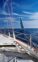 Sailing, Southern California, Santa Monica Bay, South Bay, SoCal, Sailboat coming Abeam,