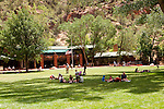 USA Utah, Zion National Park. The Lodge, only lodging in park.