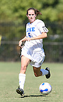 30 September 2007: Duke's Kelly Hathorn. The Duke University Blue Devils defeated the Virginia Tech University Hokies 1-0 in sudden death overtime at Koskinen Stadium in Durham, North Carolina in an Atlantic Coast Conference NCAA Division I Women's Soccer game.