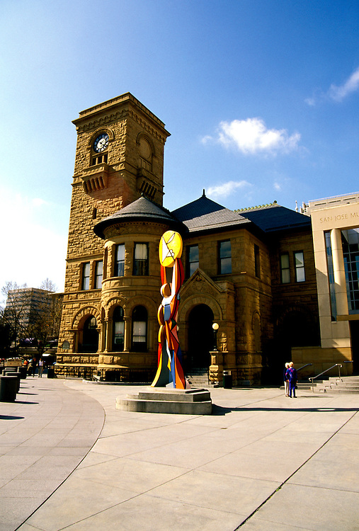 California: San Jose. Museum of Art in old post office..Photo copyright Lee Foster, 510/549-2202, lee@fostertravel.com, www.fostertravel.com..Photo #: cajose101