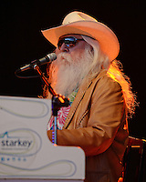 BOCA RATON FL - JANUARY 18 : Leon Russell performs at The Sunshine Blues Festival at The Mizner Park Amphitheatre on January 18, 2014 in Boca Raton, Florida. Credit: mpi04/MediaPunch