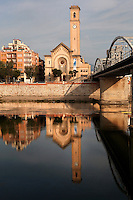 Puente del Estado (Estate bridge) and Parroquia del Rosario (Rosary chruch), 1912 - 1914,  Tortosa, Tarragona, Spain. Picture by Manuel Cohen