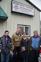 Duke at Prime Select Seafoods, Cordova, Alaska, US, October 2012