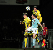 15.01.2013. Torquay, England. Torquay's Kevin Nicholson wins the ball during the League Two game between Torquay United and Exeter City from Plainmoor.