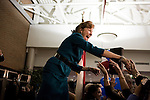 November 4, 2008. Greensboro, NC.. As the polls closed, Kay Hagan was declared the winner of the North Carolina senatorial race, defeating incumbent Elizabeth Dole.. Hagan spoke to a crowd of fans and friends in her hometown of Greensboro..