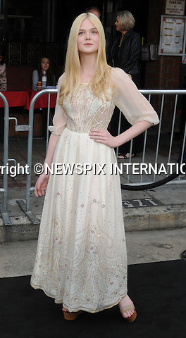 "ELLE FANNING.attends the Los Angeles Premiere of ""Super 8"" at the Regency Village Theater on June 8, 2011, Westwood, California.Mandatory Photo Credit: ©Crosby/Newspix International. .**ALL FEES PAYABLE TO: ""NEWSPIX INTERNATIONAL""**..PHOTO CREDIT MANDATORY!!: NEWSPIX INTERNATIONAL(Failure to credit will incur a surcharge of 100% of reproduction fees)..IMMEDIATE CONFIRMATION OF USAGE REQUIRED:.Newspix International, 31 Chinnery Hill, Bishop's Stortford, ENGLAND CM23 3PS.Tel:+441279 324672  ; Fax: +441279656877.Mobile:  0777568 1153.e-mail: info@newspixinternational.co.uk"