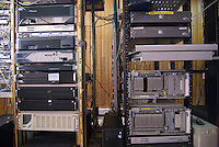 Server racks at the NOC, Network operations centre, Busy Internet