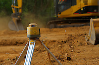 Laser leveling on building site.<br />