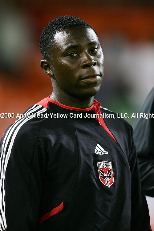 15 October 2005: DC's Freddy Adu. DC United and the Columbus Crew tied 2-2 at RFK Stadium in Washington, DC in a regular season Major League Soccer game.