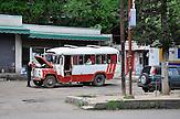 Bushaltestelle in Kutaissi. / Bus station in Kutaisi.